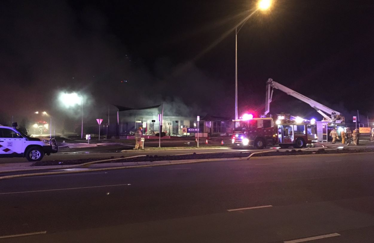 Article image for Childcare centre destroyed by fire in fatal smash at Tarneit