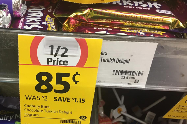 Article image for Half price chocolate price tag raises questions