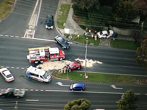 Article image for Traffic: Three-car crash prompts big Springvale Road delays