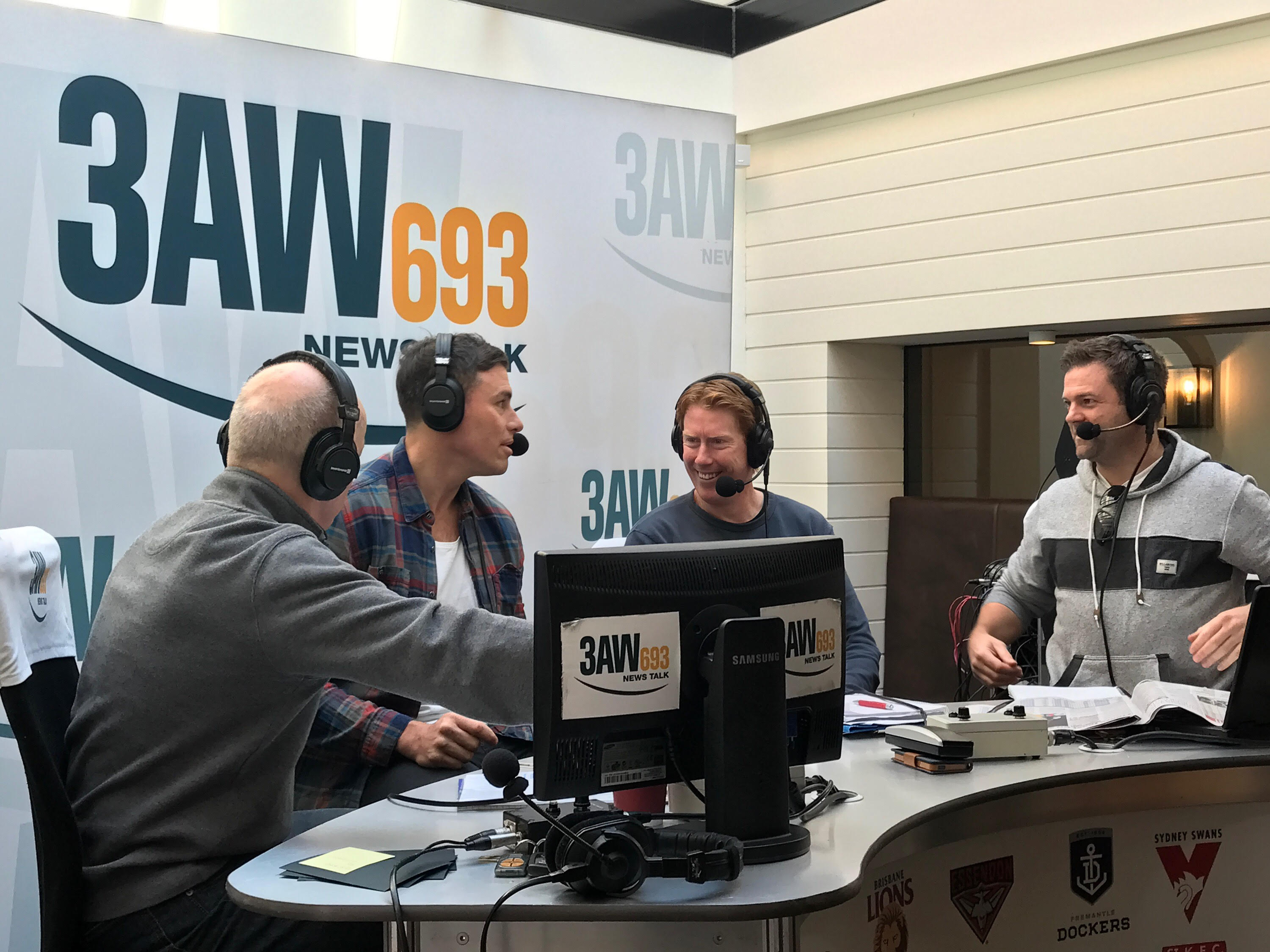 Article image for Photos: 3AW Football live from Hotel Brighton