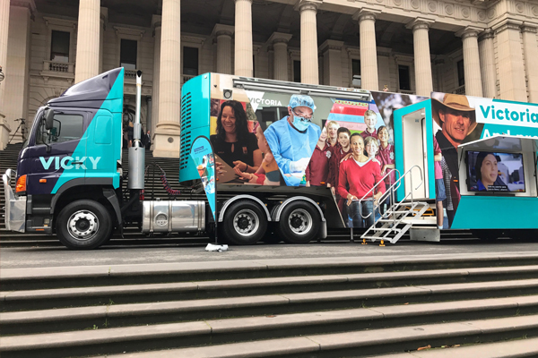 Article image for 3AW Drive meets 'Vicky the Values Truck'