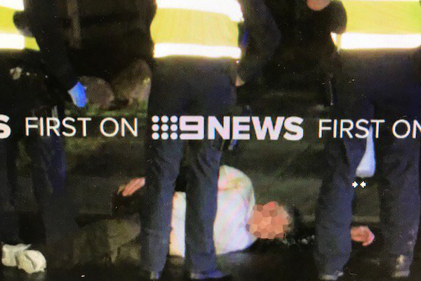 Article image for Man rams police car and drive's over foot, then released on bail