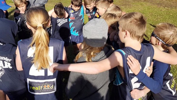 Article image for Junior footy club wins praise for sportsmanship after big win