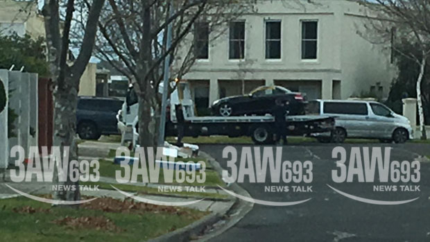 Article image for EXCLUSIVE | Black Mercedes taken away outside house of Karen Ristevski