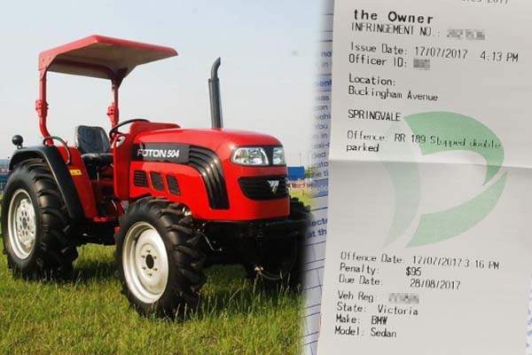 Article image for Confusing parking fine leaves Melbourne farmer baffled
