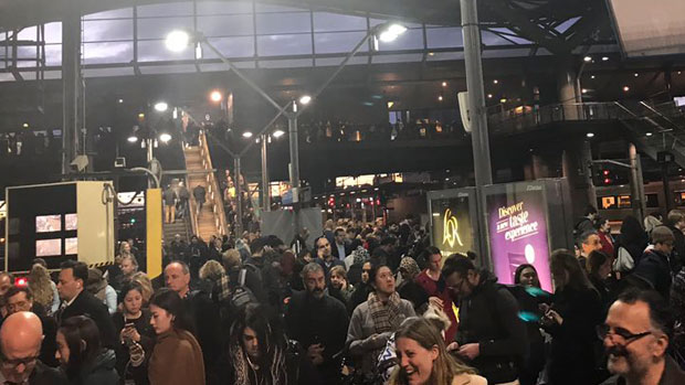 Article image for Melbourne's train network comes to grinding halt