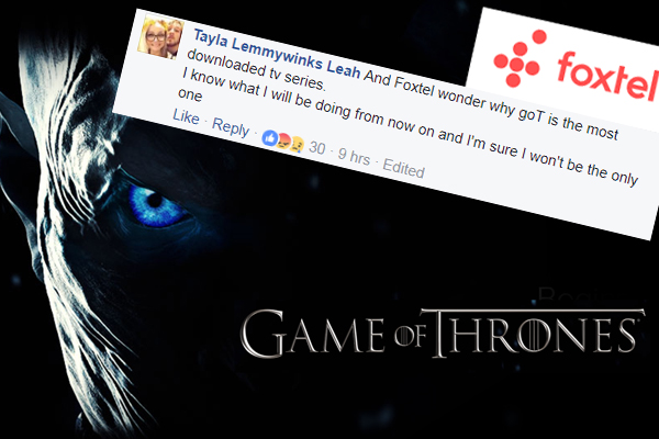 Article image for Viewers unleash as Foxtel crashes for Game Of Thrones launch