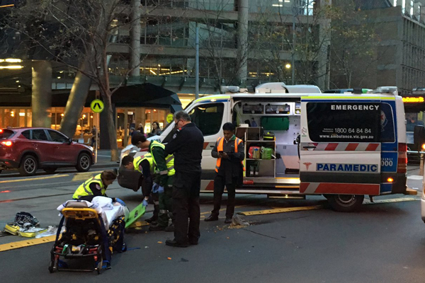 Article image for VIDEO: Pedestrian down in Collins St
