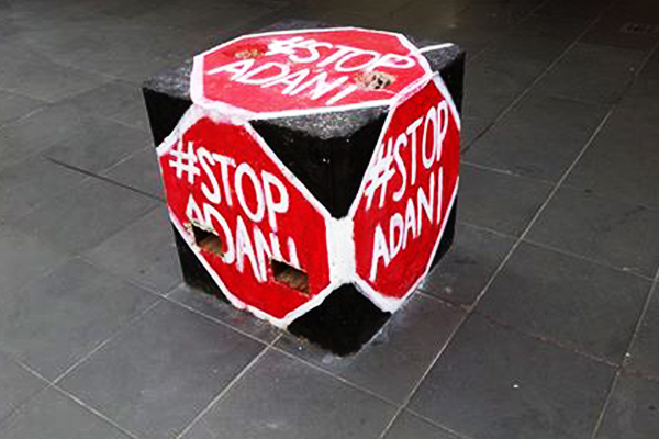 Article image for PHOTOS: Activists and smut-merchants are hijacking Melbourne's bollards