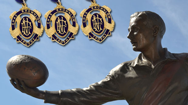 Article image for AFL legend's three Brownlows for sale
