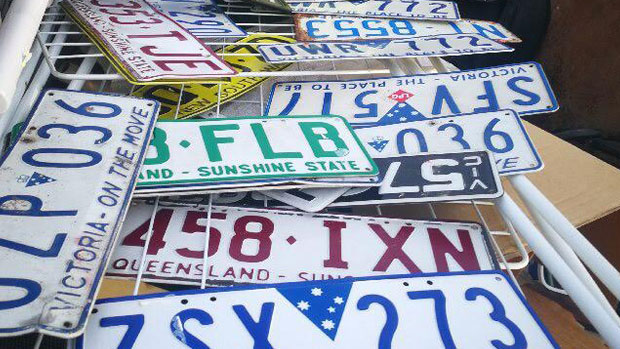 Article image for Number plates found dumped in bin