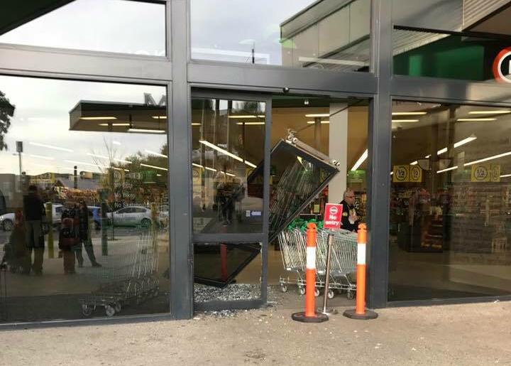 Article image for PICS: Unsuccessful ram raid at Mernda supermarket
