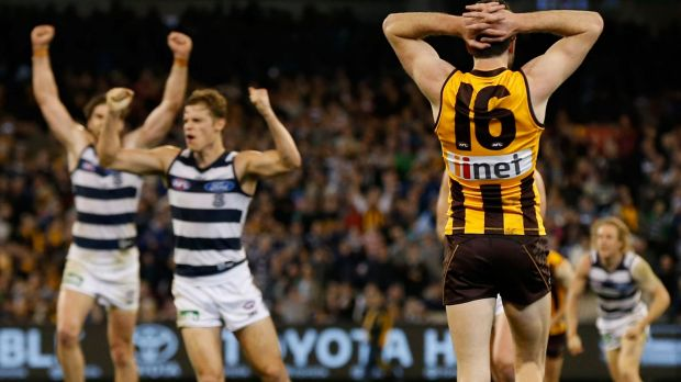 Article image for Cats win as Geelong and Hawthorn play out another epic