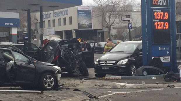 Article image for Nasty high-speed smash in Brighton
