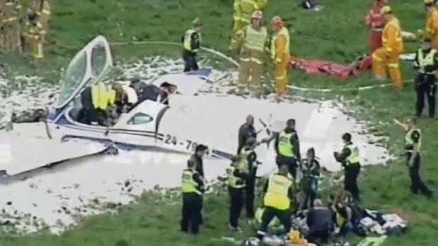 Article image for Person fighting for life, another hurt, as plane crash lands