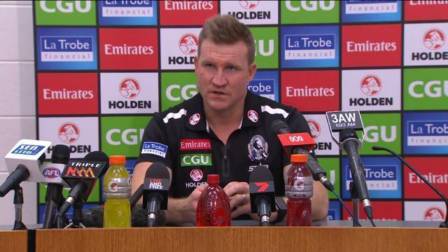 Article image for Collingwood re-signs Nathan Buckley as coach