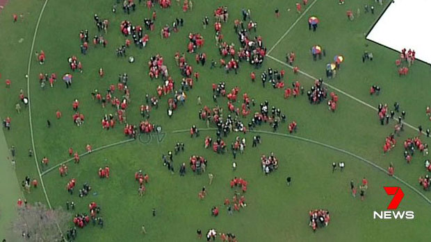 Article image for Police swoop on Scotch College, students spill onto ovals