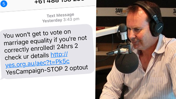 Article image for Fiery clash over 'cheeky' robocalls and texts
