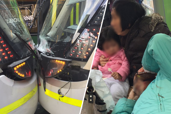 Article image for Two trams have collided in Melbourne's CBD