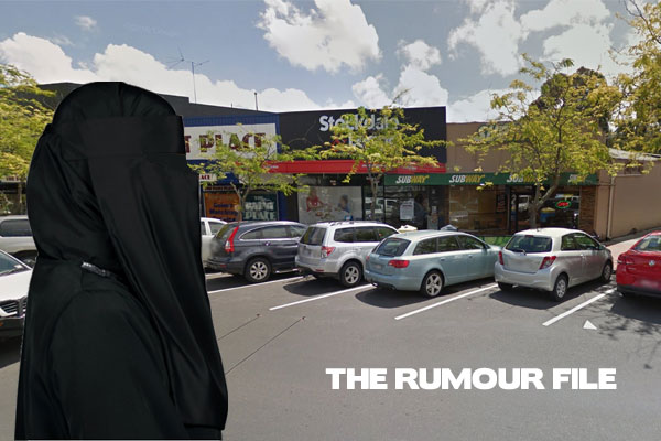 Article image for Woman wearing burqa allegedly robs Subway in Melbourne's east