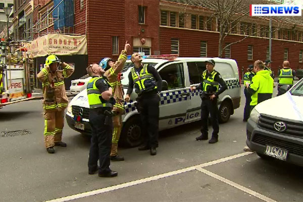 Article image for Broken glass falls 13 storeys onto city footpath