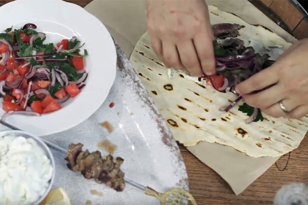 Article image for Recipe: Tobie Puttock's lamb souvlaki