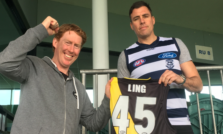 Article image for Richo to broadcast Hawthorn v North Melbourne in a Cats jumper