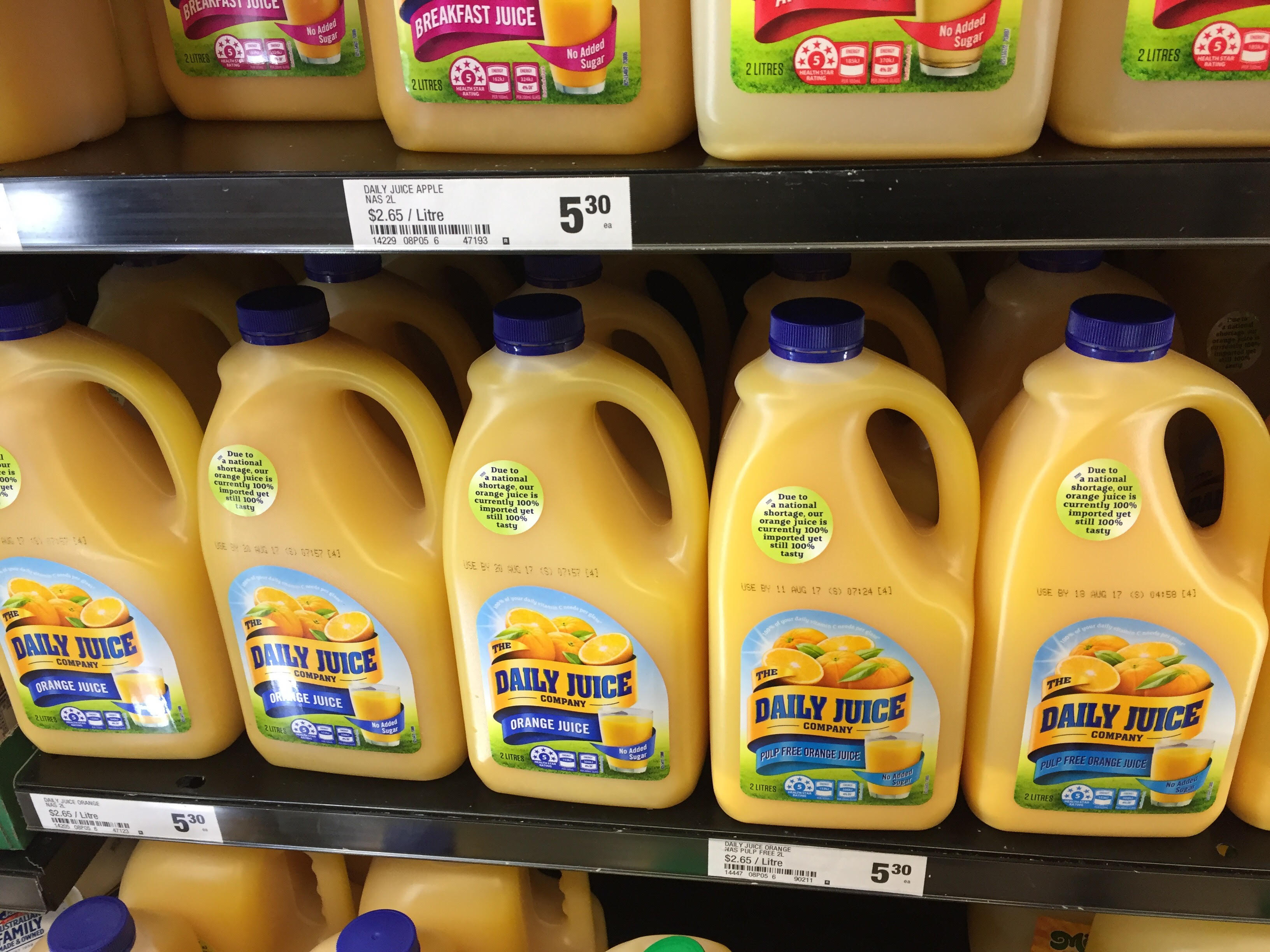 Article image for Are we suffering from a national juice shortage?