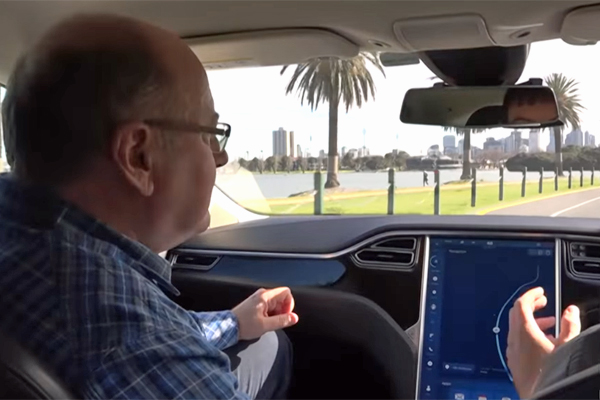 Article image for Video: Ross puts a driverless car to the test