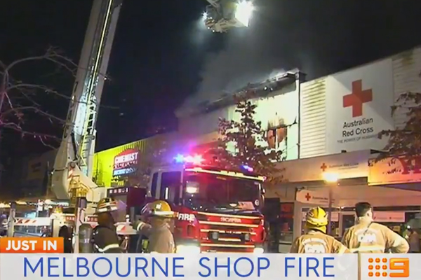 Article image for Million-dollar fire in Dandenong