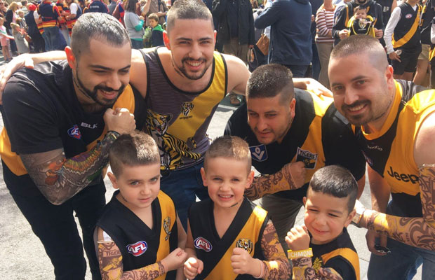 Article image for This family has got Dustin Martin fever!