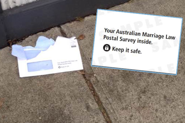 Article image for Marriage equality envelopes ripped open in Melbourne's south-east
