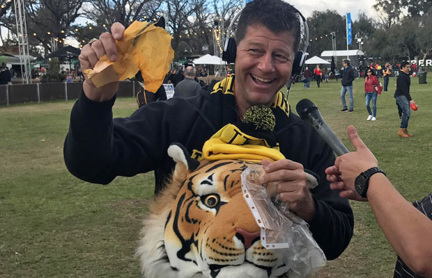 Article image for Tiger fan gets his wish after flying across the world!