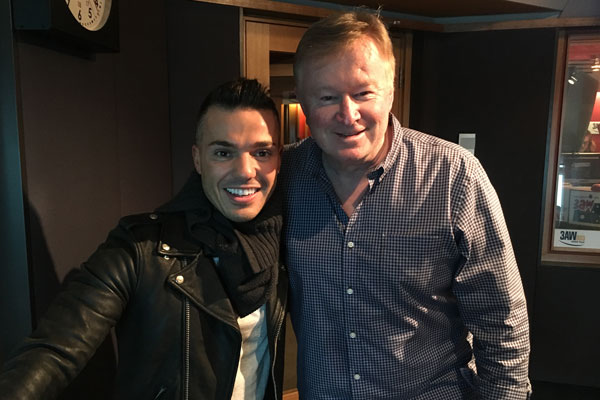 Article image for Live music: Anthony Callea live in the studio with Denis Walter