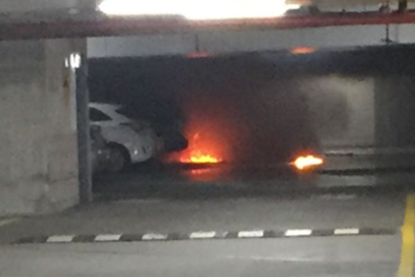 Article image for Malvern Central evacuated after fire in car park