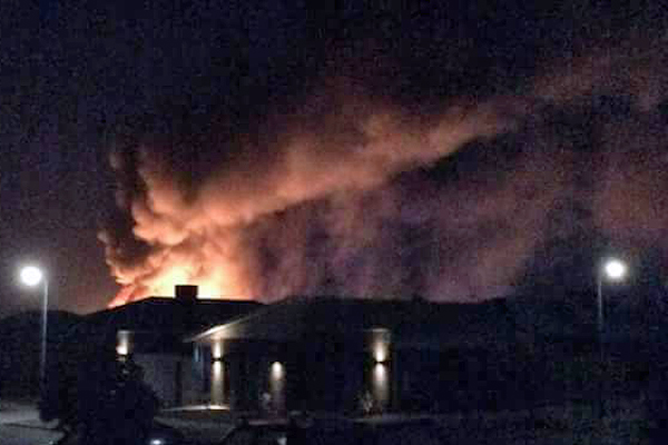 Article image for Gas cylinders, trucks explode in dangerous overnight blaze