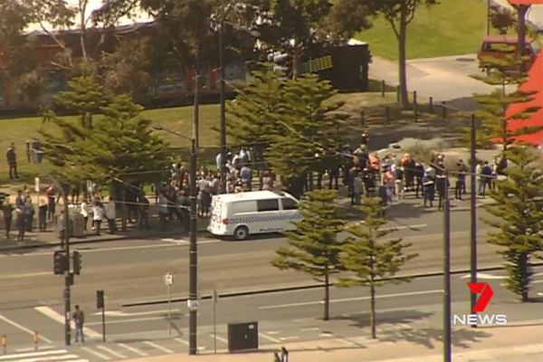 Article image for AFL House evacuated after threatening phone call