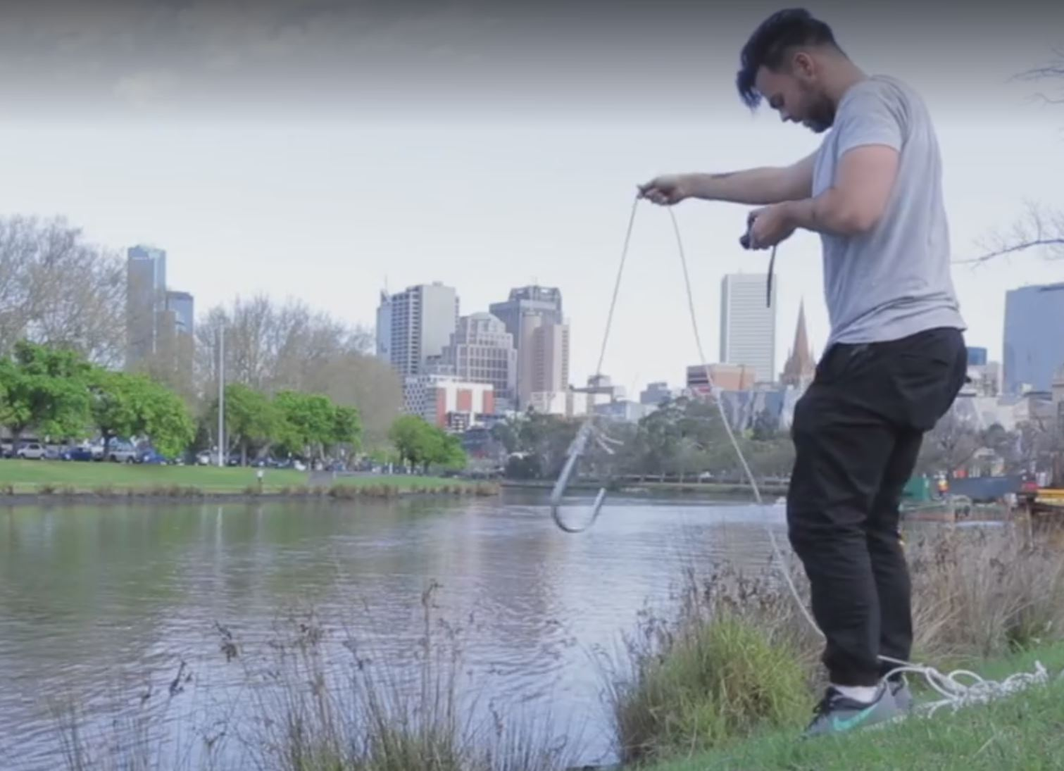 """Article image for Melbourne """"fisherman"""" catches unusual haul in the Yarra"""