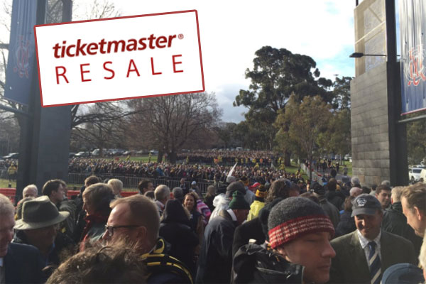 Article image for Fans want overpriced footy tickets taken off resale sites
