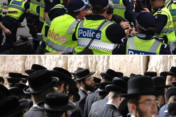 Article image for Police unhappy about patrol with Jewish security guards: Police Association