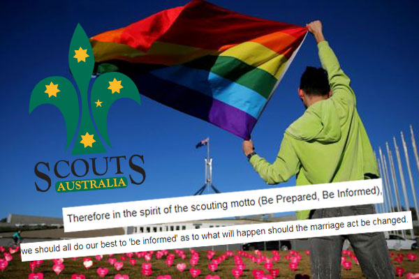 Article image for Rumour confirmed: Scout leader sends email to parents urging 'No' vote to marriage equality