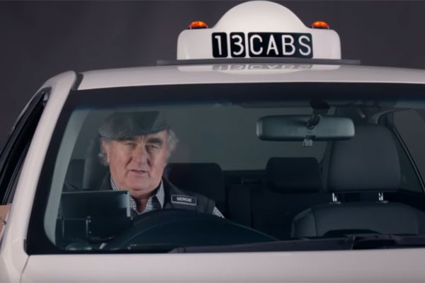Article image for Serge the taxi driver to star in ads all in the name of irony