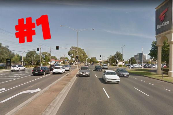 Article image for Springvale Rd named national car crash capital