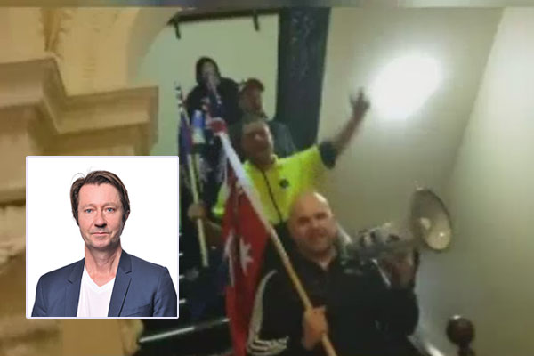 Article image for Yarra Cr Stephen Jolly slams far-right protestors