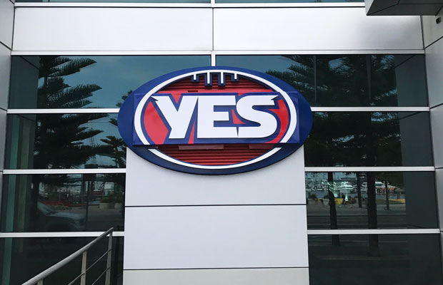 Article image for YES logo disappears overnight as footy world divides