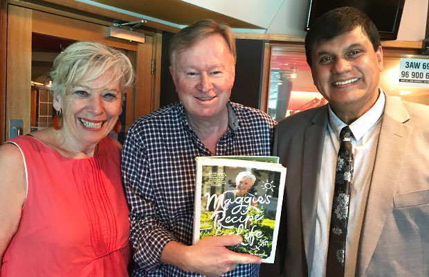 Article image for Maggie Beer and Ralph Martins in studio discussing  'Maggie's Recipe for Life'