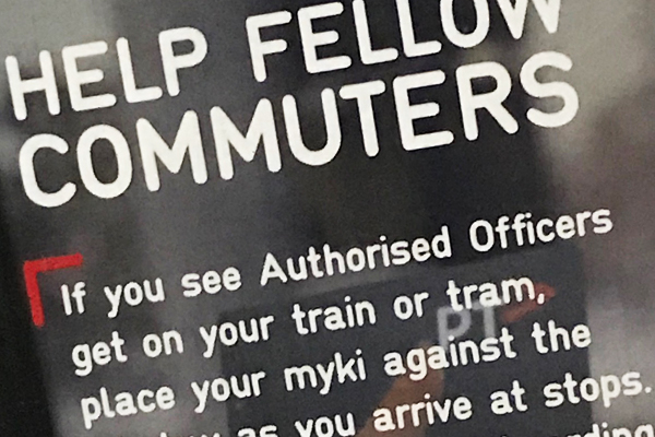 Article image for Campaign to help commuters dodge paying for Myki