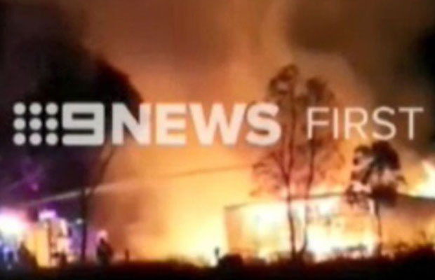 Article image for Massive fire destroys home at Melton