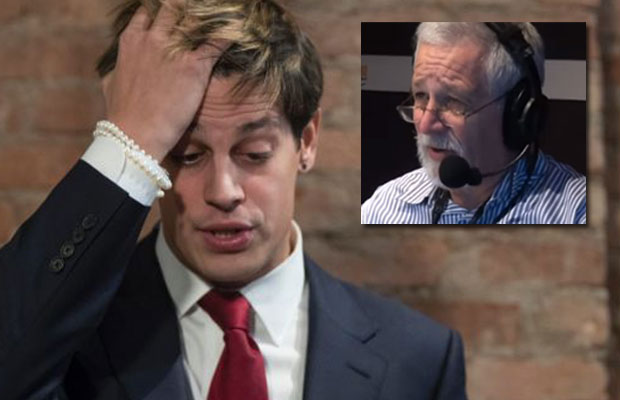 Article image for Awkward exchange between Neil Mitchell and Milo Yiannopoulos over apparent 'gotcha' question