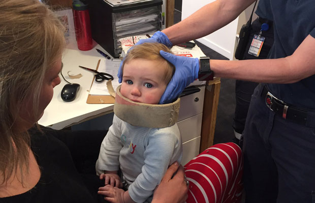 Article image for MFB frees over-adventurous baby boy!